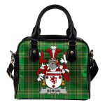 Bergin or O'Bergin Ireland Shoulder Handbag Irish National Tartan  | Over 1400 Crests | Bags | Water-Resistant PU leather