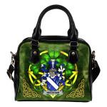 Needham or O'Nee Ireland Shoulder HandBag Celtic Shamrock   Over 1400 Crests   Bags   Premium Quality