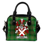 Corry or O'Corry Ireland Shoulder Handbag Irish National Tartan  | Over 1400 Crests | Bags | Water-Resistant PU leather