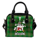 McNulty Ireland Shoulder Handbag Irish National Tartan    Over 1400 Crests   Bags   Water-Resistant PU leather