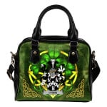 Lyons or Lyne Ireland Shoulder HandBag Celtic Shamrock   Over 1400 Crests   Bags   Premium Quality