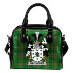 Gallagher or O'Gallagher Ireland Shoulder Handbag Irish National Tartan  | Over 1400 Crests | Bags | Water-Resistant PU leather