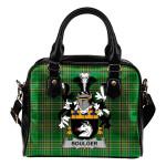 Boulger or O'Bolger Ireland Shoulder Handbag Irish National Tartan  | Over 1400 Crests | Bags | Water-Resistant PU leather
