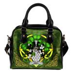 Quill Ireland Shoulder HandBag Celtic Shamrock   Over 1400 Crests   Bags   Premium Quality