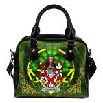 Desmond Ireland Shoulder HandBag Celtic Shamrock | Over 1400 Crests | Bags | Premium Quality