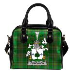 Concanon or O'Concanon Ireland Shoulder Handbag Irish National Tartan  | Over 1400 Crests | Bags | Water-Resistant PU leather