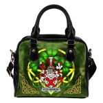 Fitz-Gibbon Ireland Shoulder HandBag Celtic Shamrock | Over 1400 Crests | Bags | Premium Quality