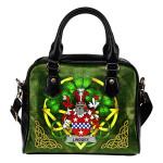 Lindsey Ireland Shoulder HandBag Celtic Shamrock   Over 1400 Crests   Bags   Premium Quality