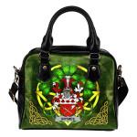 Grymes Ireland Shoulder HandBag Celtic Shamrock   Over 1400 Crests   Bags   Premium Quality