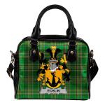 Echlin Ireland Shoulder Handbag Irish National Tartan  | Over 1400 Crests | Bags | Water-Resistant PU leather