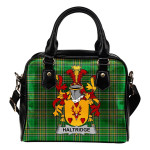 Haltridge Ireland Shoulder Handbag Irish National Tartan  | Over 1400 Crests | Bags | Water-Resistant PU leather