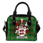 Flattery or O'Flattery Ireland Shoulder Handbag Irish National Tartan  | Over 1400 Crests | Bags | Water-Resistant PU leather