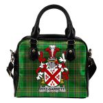 Fitz-Garrett Ireland Shoulder Handbag Irish National Tartan  | Over 1400 Crests | Bags | Water-Resistant PU leather