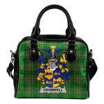 Cromwell Ireland Shoulder Handbag Irish National Tartan  | Over 1400 Crests | Bags | Water-Resistant PU leather