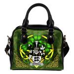 Wyrrall Ireland Shoulder HandBag Celtic Shamrock | Over 1400 Crests | Bags | Premium Quality