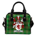 Dease Ireland Shoulder Handbag Irish National Tartan  | Over 1400 Crests | Bags | Water-Resistant PU leather