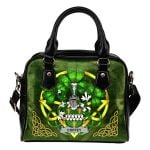 Coffey or O'Coffey Ireland Shoulder HandBag Celtic Shamrock | Over 1400 Crests | Bags | Premium Quality