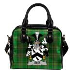 Wise Ireland Shoulder Handbag Irish National Tartan  | Over 1400 Crests | Bags | Water-Resistant PU leather