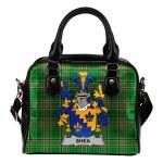 Shea or O'Shee Ireland Shoulder Handbag Irish National Tartan  | Over 1400 Crests | Bags | Water-Resistant PU leather