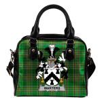 Warters Ireland Shoulder Handbag Irish National Tartan    Over 1400 Crests   Bags   Water-Resistant PU leather