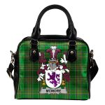 McMore or More Ireland Shoulder Handbag Irish National Tartan  | Over 1400 Crests | Bags | Water-Resistant PU leather
