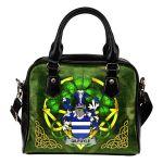 Gilfoyle or McGilfoyle Ireland Shoulder HandBag Celtic Shamrock   Over 1400 Crests   Bags   Premium Quality