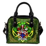 Larkin or O'Larkin Ireland Shoulder HandBag Celtic Shamrock | Over 1400 Crests | Bags | Premium Quality