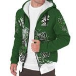 Daunt Ireland Sherpa Hoodie Celtic Irish Shamrock and Sword | Over 1400 Crests | Clothing | Apparel
