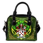 Delahay Ireland Shoulder HandBag Celtic Shamrock   Over 1400 Crests   Bags   Premium Quality