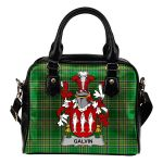 Galvin or O'Galvin Ireland Shoulder Handbag Irish National Tartan  | Over 1400 Crests | Bags | Water-Resistant PU leather