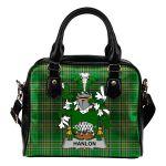 Hanlon or O'Hanlon Ireland Shoulder Handbag Irish National Tartan  | Over 1400 Crests | Bags | Water-Resistant PU leather