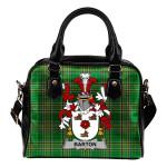 Barton Ireland Shoulder Handbag Irish National Tartan  | Over 1400 Crests | Bags | Water-Resistant PU leather