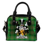 Grattan or McGrattan Ireland Shoulder Handbag Irish National Tartan  | Over 1400 Crests | Bags | Water-Resistant PU leather