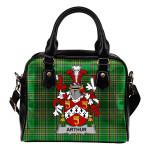 Arthur Ireland Shoulder Handbag Irish National Tartan  | Over 1400 Crests | Bags | Water-Resistant PU leather