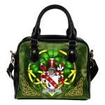 Todd or Tod Ireland Shoulder HandBag Celtic Shamrock   Over 1400 Crests   Bags   Premium Quality