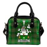 Connell or O'Connell Ireland Shoulder Handbag Irish National Tartan    Over 1400 Crests   Bags   Water-Resistant PU leather