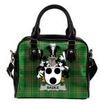 Basile Ireland Shoulder Handbag Irish National Tartan  | Over 1400 Crests | Bags | Water-Resistant PU leather