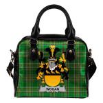 Wogan Ireland Shoulder Handbag Irish National Tartan  | Over 1400 Crests | Bags | Water-Resistant PU leather
