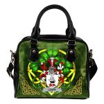 Leary or O'Leary Ireland Shoulder HandBag Celtic Shamrock | Over 1400 Crests | Bags | Premium Quality