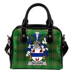 Gilligan or McGilligan Ireland Shoulder Handbag Irish National Tartan  | Over 1400 Crests | Bags | Water-Resistant PU leather