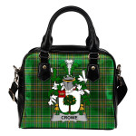 Crowe or McEnchroe Ireland Shoulder Handbag Irish National Tartan  | Over 1400 Crests | Bags | Water-Resistant PU leather