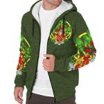 Miles or Moyles Ireland Sherpa Hoodie Celtic and Shamrock | Over 1400 Crests | Clothing | Apparel