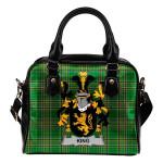 King Ireland Shoulder Handbag Irish National Tartan  | Over 1400 Crests | Bags | Water-Resistant PU leather