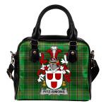 Fitz-Simons Ireland Shoulder Handbag Irish National Tartan  | Over 1400 Crests | Bags | Water-Resistant PU leather