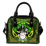 McAlindon or McAlindem Ireland Shoulder HandBag Celtic Shamrock | Over 1400 Crests | Bags | Premium Quality