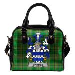 Dardes or Dardis Ireland Shoulder Handbag Irish National Tartan  | Over 1400 Crests | Bags | Water-Resistant PU leather
