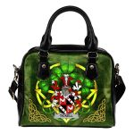 Tickell Ireland Shoulder HandBag Celtic Shamrock | Over 1400 Crests | Bags | Premium Quality