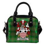 Thornhill Ireland Shoulder Handbag Irish National Tartan  | Over 1400 Crests | Bags | Water-Resistant PU leather