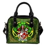 Sarsfield Ireland Shoulder HandBag Celtic Shamrock | Over 1400 Crests | Bags | Premium Quality