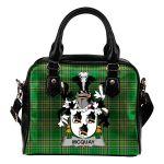 McQuay or MacQuay Ireland Shoulder Handbag Irish National Tartan  | Over 1400 Crests | Bags | Water-Resistant PU leather